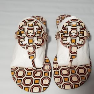 NWT Authentic Tory Burch Octagon Miller Sandals